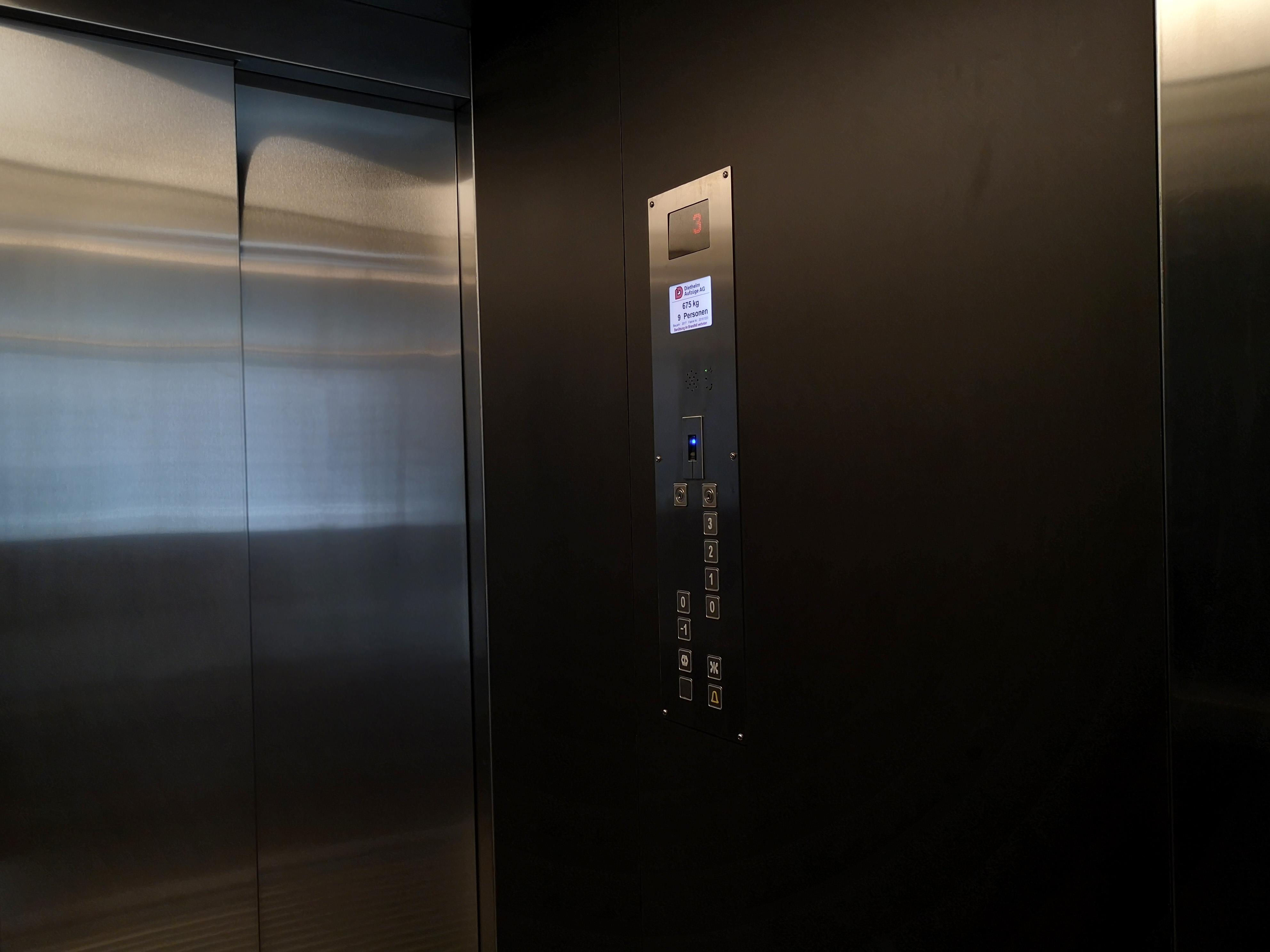 Aufzug Tableau